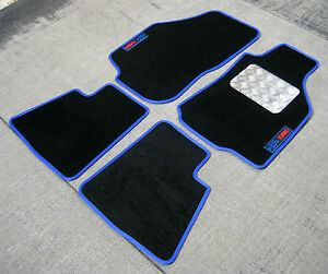 G Floor Mats >> Details About Black Blue Car Mats Vauxhall Astra G Mk4 98 04 Gsi Turbo Logos Chequer