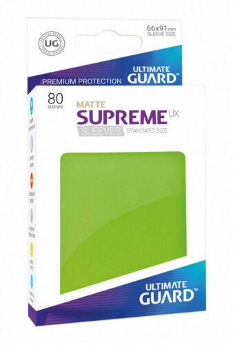 Ultimate Guard 80 Bustine Protettive Verde Chiaro Matte Standard Supreme BA640