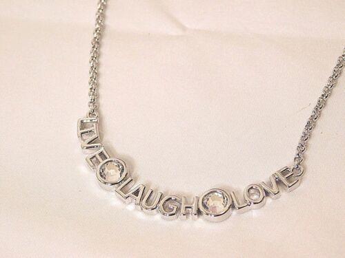 "Cut Crystals Adorable Lia Sophia /""QUOTE ME/"" Necklace NWT 16-19/"""