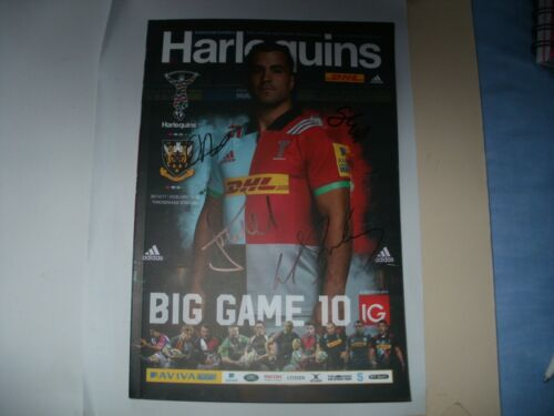SIGNED4 RUGBY PROGRAMMEHARLEQUINS V NORTHAMPTON BIG GAME 10TWICKENHAM