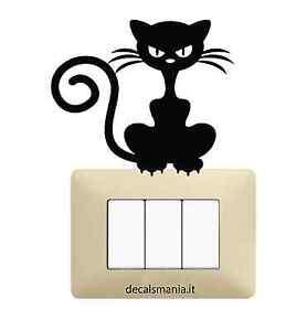 Adesivo-Stickers-Tuning-Gattino-arrabbiato-gatto-muro-specchio-parete-auto