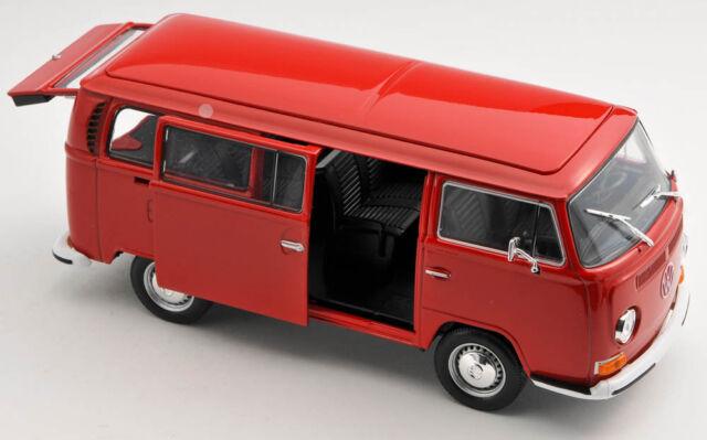 BLITZ VERSAND VW Volkswagen Bus T2 1972 rot / red 1:24 Welly Modell Auto NEU