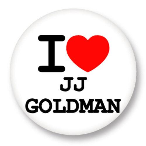 Pin Button Badge Ø38mm ♥ I Love You j/'aime Jean-Jacques Goldman