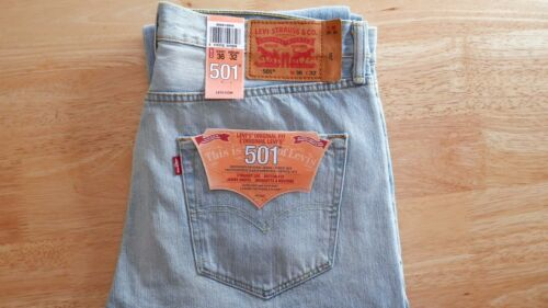 71dce34bd994 Denim Bnwt Fly 5 Non X 30 Light 36w Jeans 32l selvedge Levi s 501 Button  Wash x6q7EwW1X