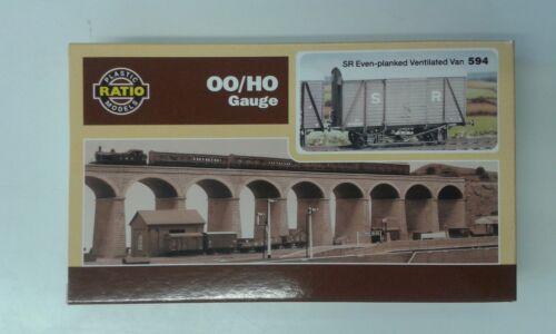 OO wagon kit free post Box Van even planked SR//BR 12t Ratio 594
