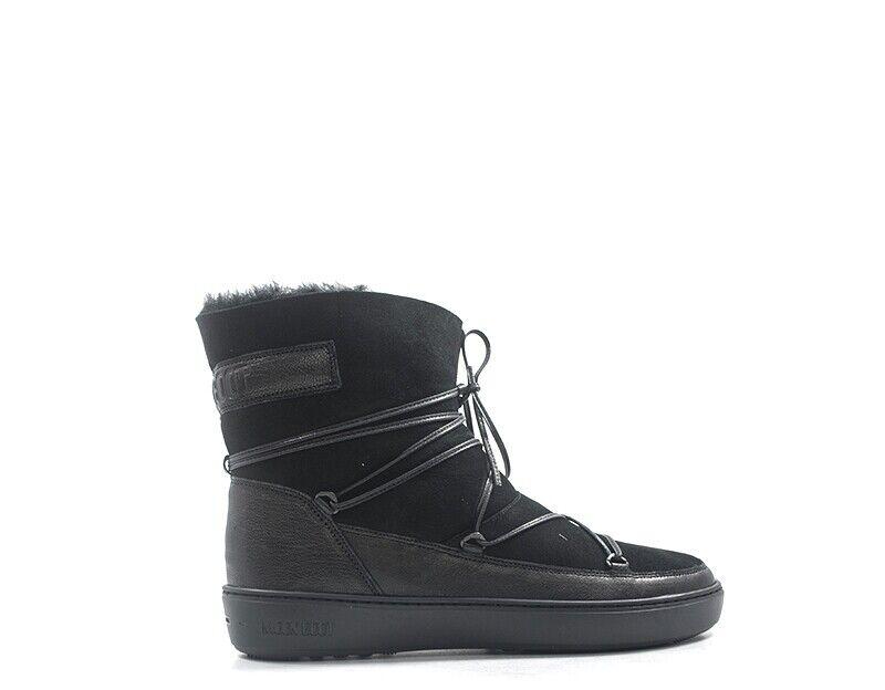 schuhe MOON Stiefel damen Stiefel  schwarz Pelle naturale 241027-005