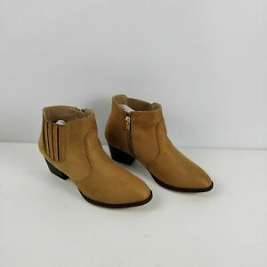 WOMENS-NEW-OASIS-BROWN-FAUX-SUEDE-ZIP-UP-HEELED-ANKLE-BOOTS-SHOES-UK-5-EU-38