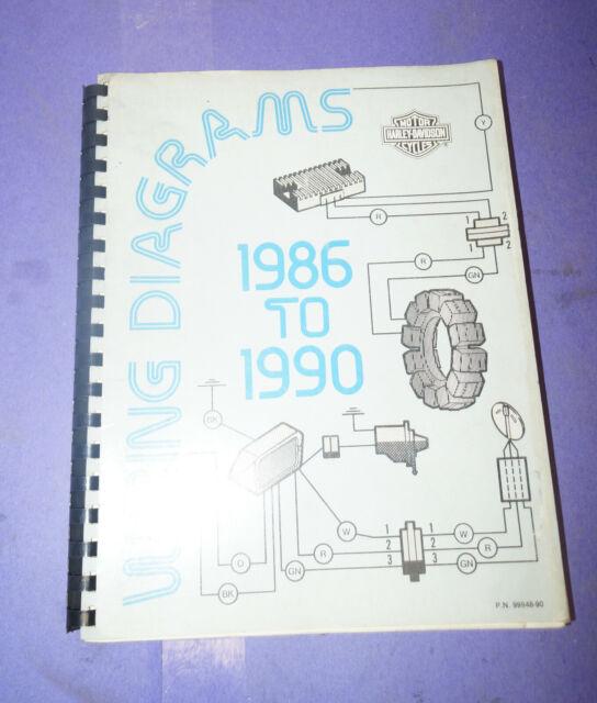 1986 1987 1988 1989 Harley Davidson All Model Wiring