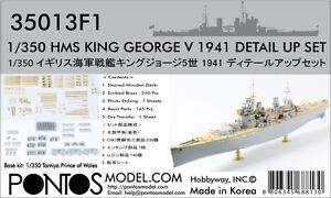 Pontos-Model-1-350-HMS-King-George-V-1941-Upgrade-set-for-Tamiya-Prince-of-Wales