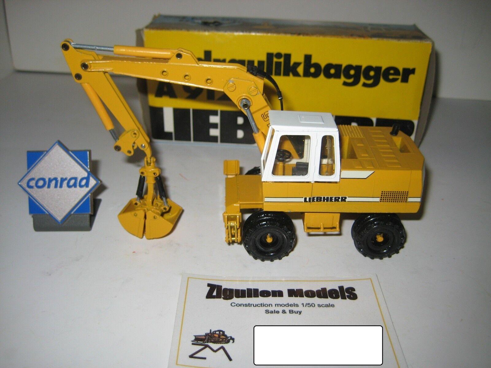 Liebherr A 912 Excavateurs Pince Mobile  2822.1 CONRAD 1 50 NEUF dans sa boîte