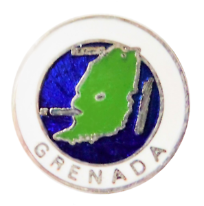 Grenada Island Map Pin Badge