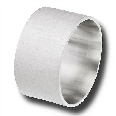 Wide 15mm Band Stainless Steel Men's Fashion Ring Jewelry Size 8-15