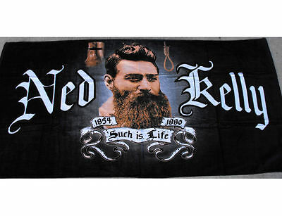 Ned Kelly Such Is Life Novelty Beach Towel - Australian Bushranger Design! NEW
