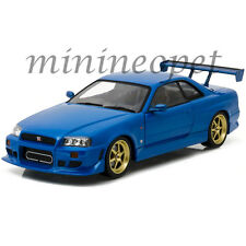 GREENLIGHT 19032 ARTISAN COLLECTION 1999 NISSAN SKYLINE GT-R R34 1/18 BLUE