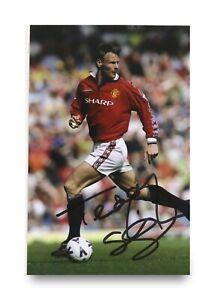 Teddy-Sheringham-Signed-6x4-Photo-Manchester-United-Autograph-Memorabilia-COA