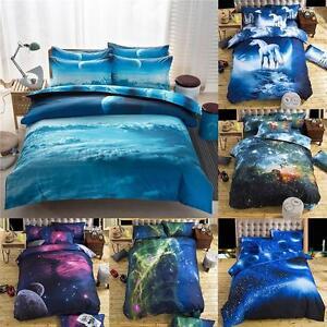 Modern 3D Dream Bedding Sets Duvet Cover Bed Sheet Living Room Decor Queen SC