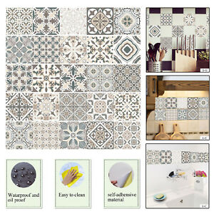 Removable-Retro-Flower-Floral-Wall-Stickers-Home-Tiles-Background-Decal-Mural