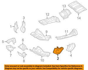 image is loading subaru-oem-14-16-forester-heat-shields-exhaust-