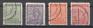 SBZ-Mi-Nr-120-123x-Freimarken-mit-Versuchszaehnung-gestempelt-20469