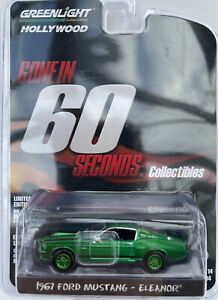 CHASE Eleanor Gone in 60 Seconds 1967 Ford Mustang model car GREEN 1:64 44742