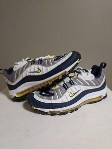 Details about Nike Air Max 98 Tour Yellow Blue White Grey Sz 11