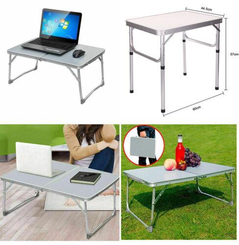 Small Folding Camping Table Portable Aluminium Picnic Dinner Table Sofa Bed Tray