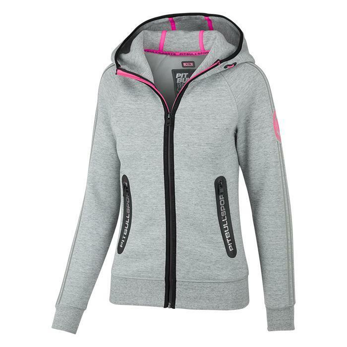 Pit Bull Hooded Zip Monroe  Grey Hoodie Pitbull grey  outlet factory shop