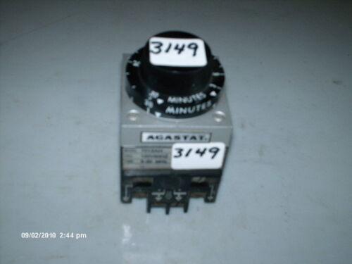 Agastat Timer Model 7012AH 3-30 Min 120V 60Hz Coil