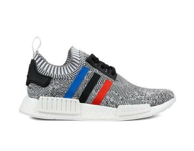 Men's Adidas NMD_R1 Primeknit Tri Color Grey/White/Red BB2888 SZ 7-13 DS BNIB