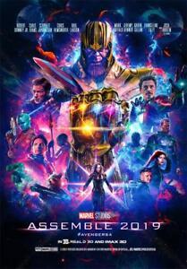 Film Cover Print Decor The Avengers 4 Endgame Movie Poster 36x24