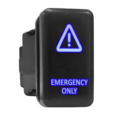 Emergency Only Blue Backlit Switch Tall Push Button 154x 083 Fit Toyota