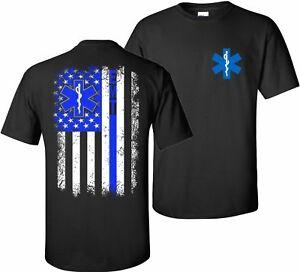 EMT-Thin-Blue-Line-Nurse-Paramedic-Emergency-Medical-Technician-T-Shirt-Tshirt