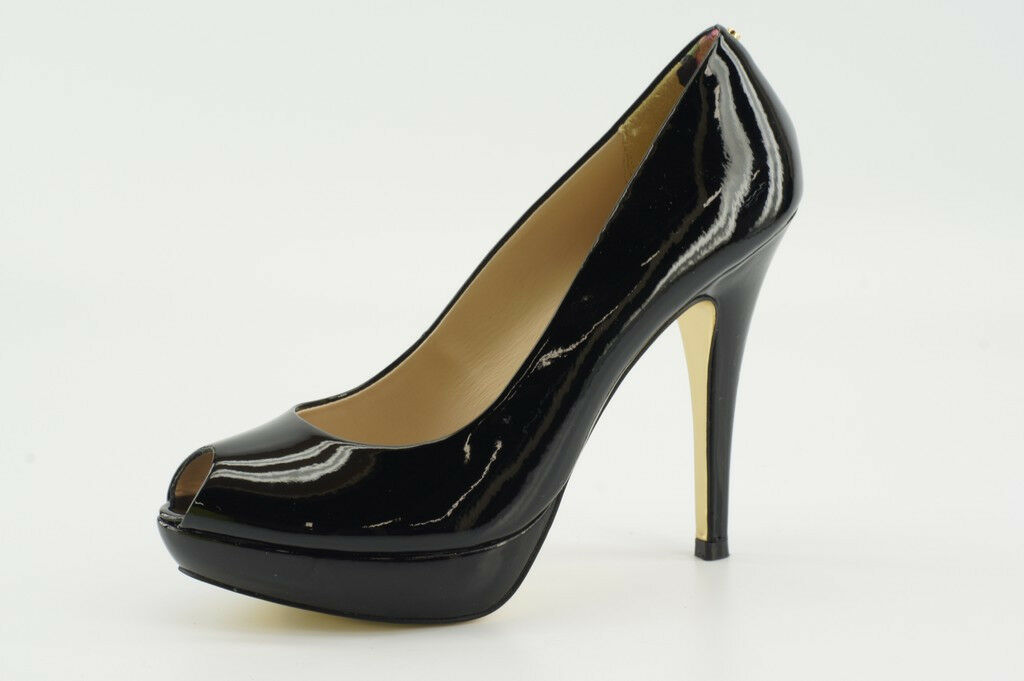 NEW Ted Baker Svana Black Leather Pumps 8.5 / 39.5 Platform Evening Shoes
