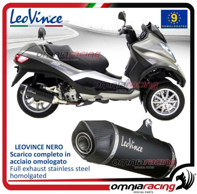Leovince Nero Tubo de Escape completo acero Piaggio MP3 400 2007>2012