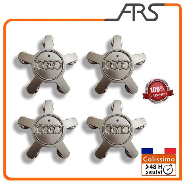 etoile centre jantes Audi A1 A3 A4 A5 A6 A8 TT 4 caches moyeux de roue