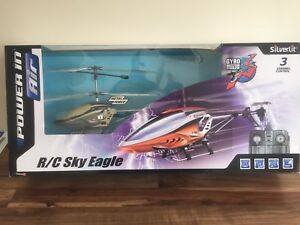 Adaptable Neuf Silverlit Sky Eagle 3-canal Radio Control Gyro Hélicoptère-afficher Le Titre D'origine Beau Travail