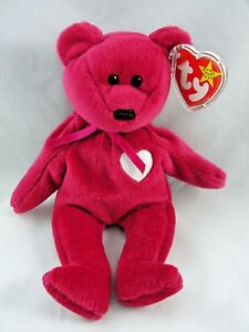20d4319a783 Ty Beanie Baby Valentina the Hot Pink Bear 9
