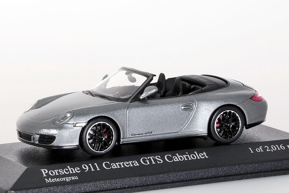 Porsche 911 carrera gts cabriolet (1997 - 2011 grau minichamps 1 43 neu   ovp