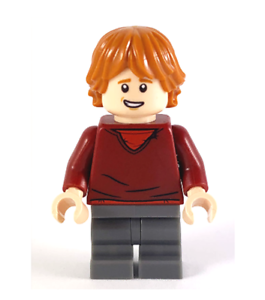 New lego ron weasley dark red sweater from harry potter set 75947 hp180