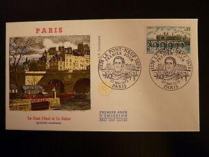 France Premier Jour Fdc Yvert 1997 Le Pont Neuf 0,80f Paris 1978