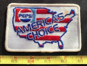 Vintage PEPSI AMERICA'S CHOICE Soda Beverage Advertising Sew On Collectors Patch