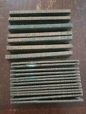 Big Lot Of 20 Vintage Wood Amp Metal Letterpress Print Blocks