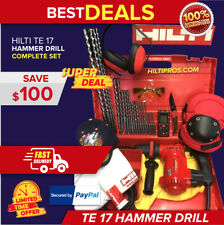 Hilti Te 17 Hammer Drill Great Condition Free Laser Meter Extras Quick Ship