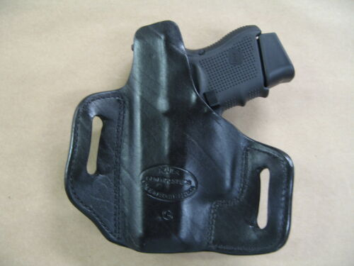 Taurus PT140 Millennium G2 .40 OWB Leather 2 Slot Pancake Belt Holster CCW BLACK