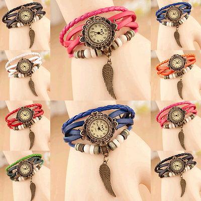 New Women Single Decoration Watch Quartz Movement Wrist Charm Retro Bracelet