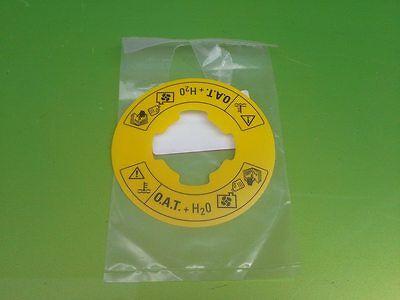 MGF EXPANSION CAP PCD100160 COOLANT LABEL OAT ANTIFREEZE PAK100380A New GENUINE
