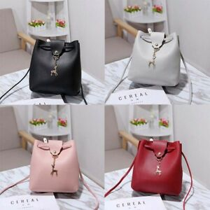 Women-Handbag-School-Bag-Leather-Lady-Travel-Shoulder-PU-Backpack-Girls-Fashion