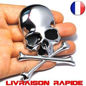 3D-Metal-Crane-Squelette-Os-Voiture-Auto-Moto-Autocollant-Camion-Tete-De-Mort