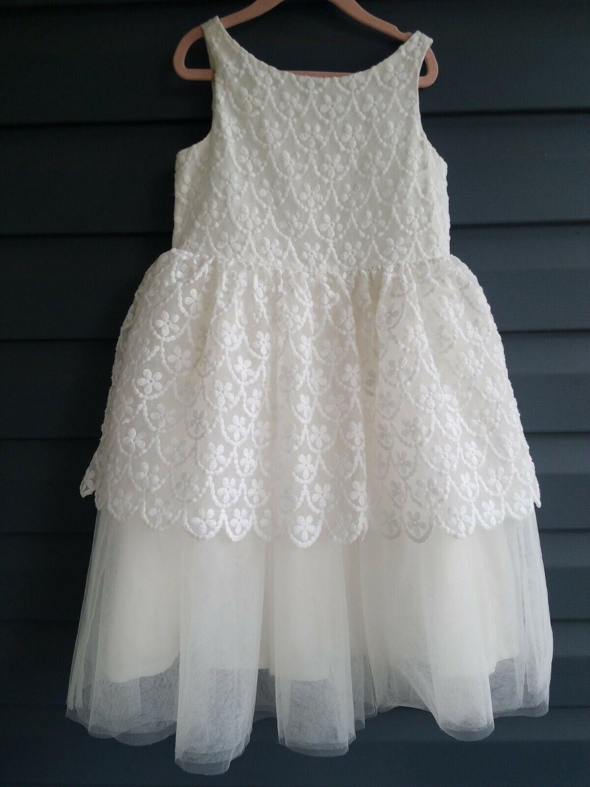 6 7 Janie Jack Special Occasion White Girls Dress Communion Flower Girl