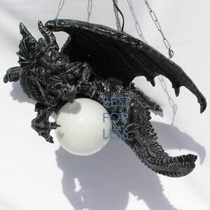Drachenlampe Drachen Lampe Dragoon Hängeleuchte Figur Statue Gothic Möbel Deko